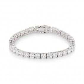 White Gold Diamond Line Bracelet 10.50ct